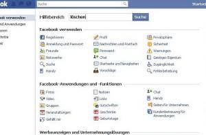 Facebook Hilfebereich