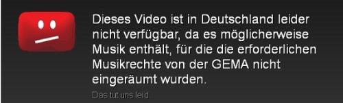 youtubesperre