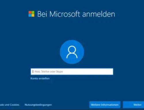 Kurz erklärt: Windows 10 ohne Microsoft-Konto installieren