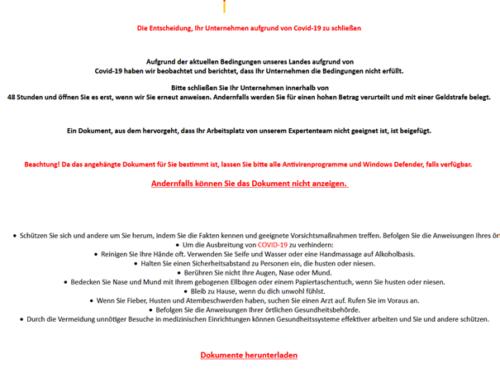 Angebliche Email der Bundesregierung enthält Ransomware