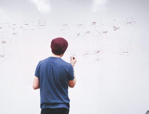 Programmieren am Whiteboard beim Vorstellungsgespräch