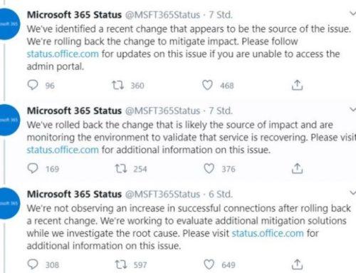 Ausfälle bei Microsoft Azure seit letzter Nacht