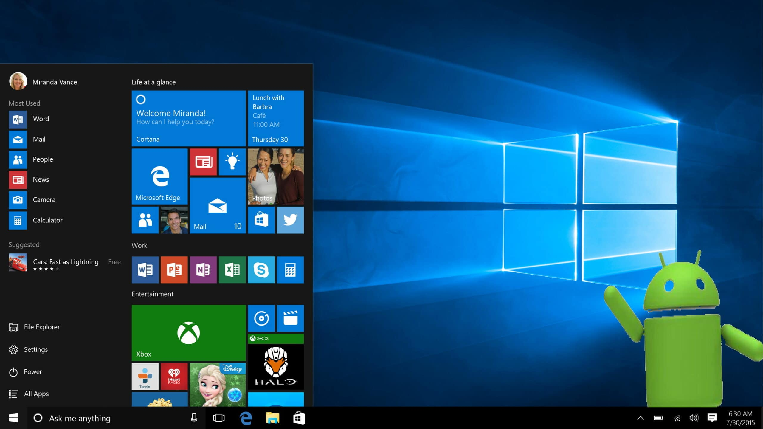 Windows Unter Android