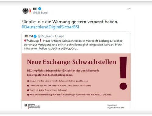 BSI warnt vor neuen kritischen Exchange Server-Lücken