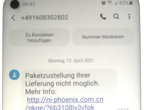 Kurz erklärt: Fake-Paketbenachrichtigung per SMS