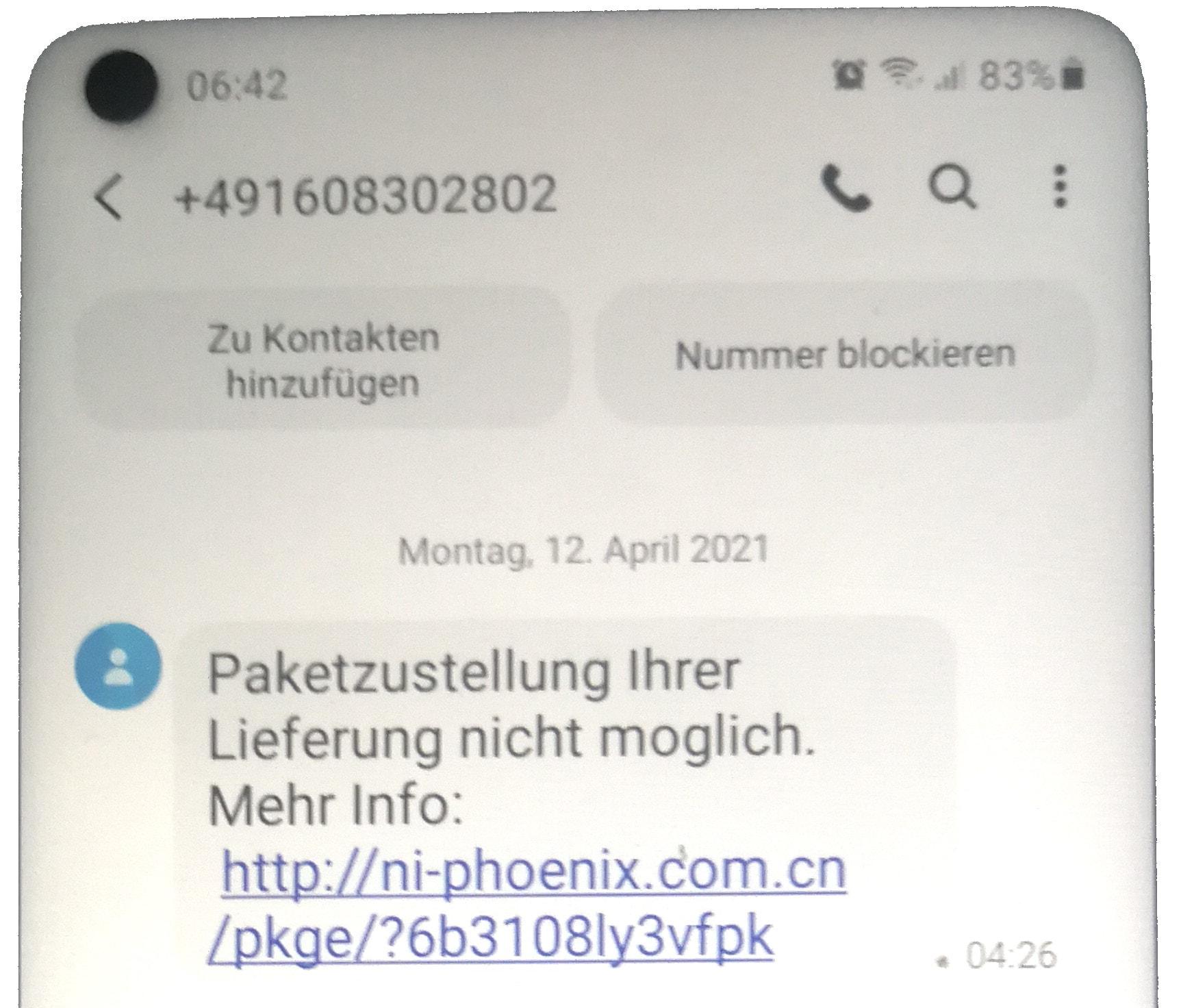 Kurz erklärt: Fake-Paketbenachrichtigung per SMS - webwork