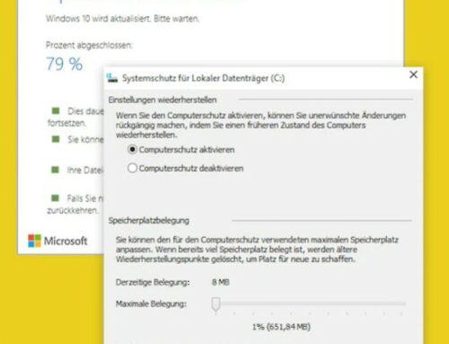 Kurz erklärt: Windows-Systemwiederherstellung reaktivieren