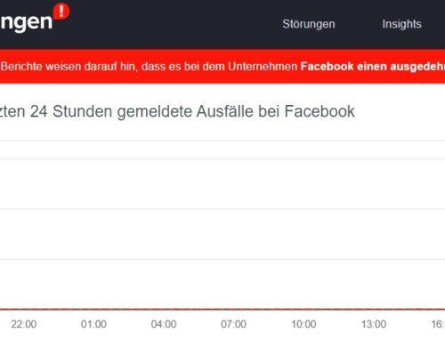 Weltweite Störung bei Whatsapp, Facebook und Instagram